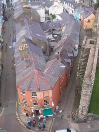 Caernarfon streets from above