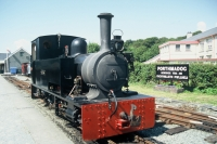 Steam train at Porthmadog