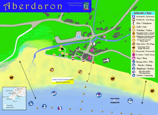 Aberdaron beach map