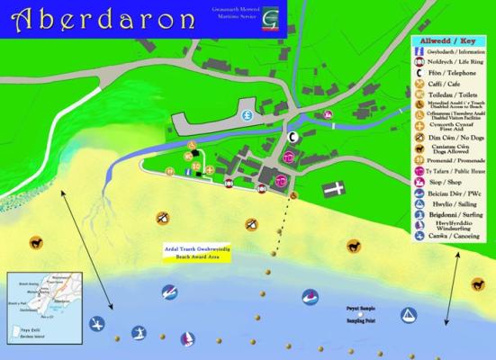Aberdaron beach map