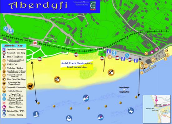 Aberdyfi beach map