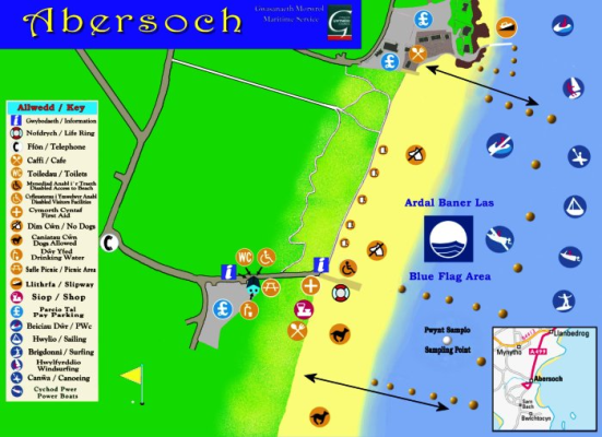 Abersoch beach map