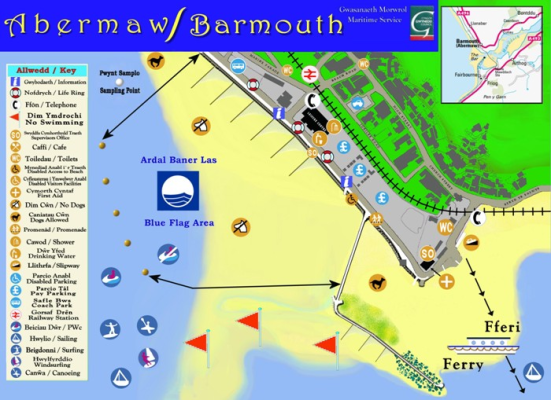 Barmouth beach map