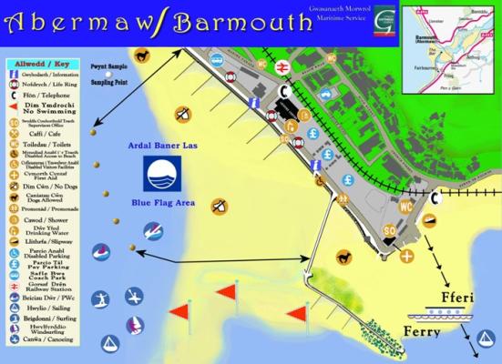 Barmouth beach map