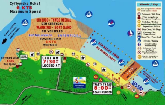 Back Rock Sands map