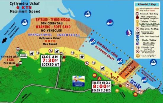 Back Rock Sands map