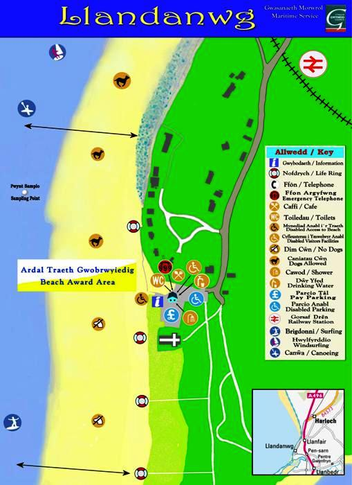 Llandanwg beach map