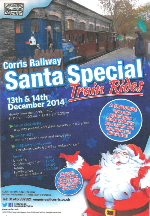 Santa Specials on the Corris Railway