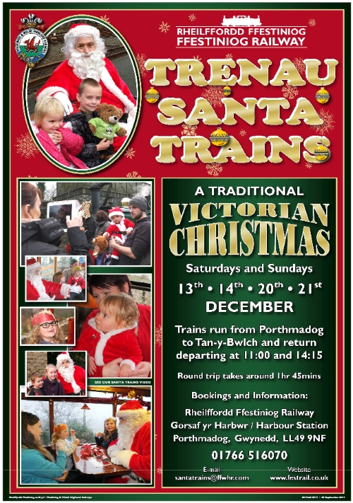 Ffestiniog Railway Santa Trains