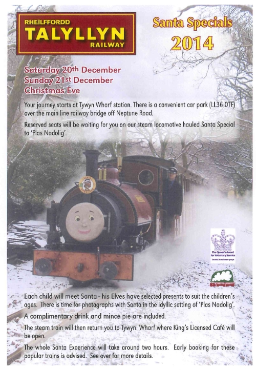 Santa trains on the Talyllyn Railway
