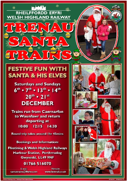 Santa trains on the Welsh Highland Railway